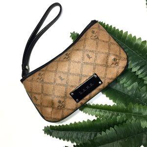 NWOT📍 L.A.M.B. monogram Leather Wristlet Pouch